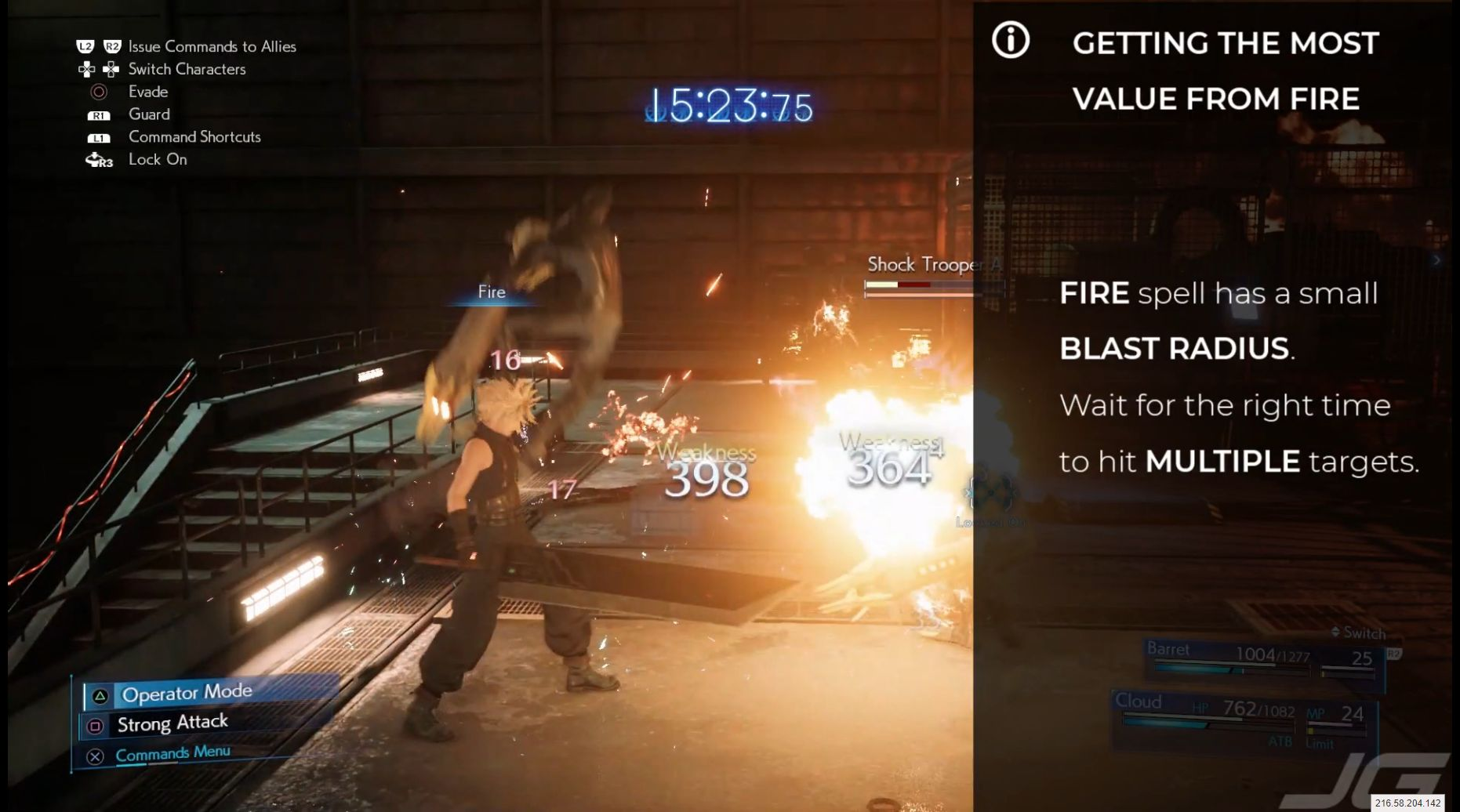 FIRE has a blast radius. You can hit multiple enemies if you wait for the right moment