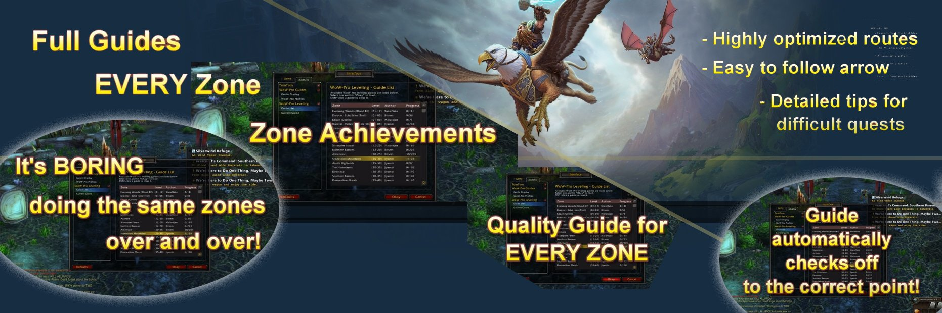 Wow- Pro Wow Leveling and Tips Addon