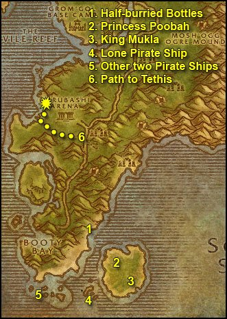 James alliance leveling guide chapter ii 40 50 world of 1 get out of booty bay and ride east to the shore now were going to look for a half burried bottle which can be found anywhere along the beach if you malvernweather Image collections