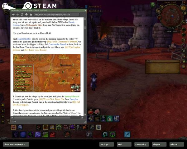 Using Steam's In-Game Browser with WoW