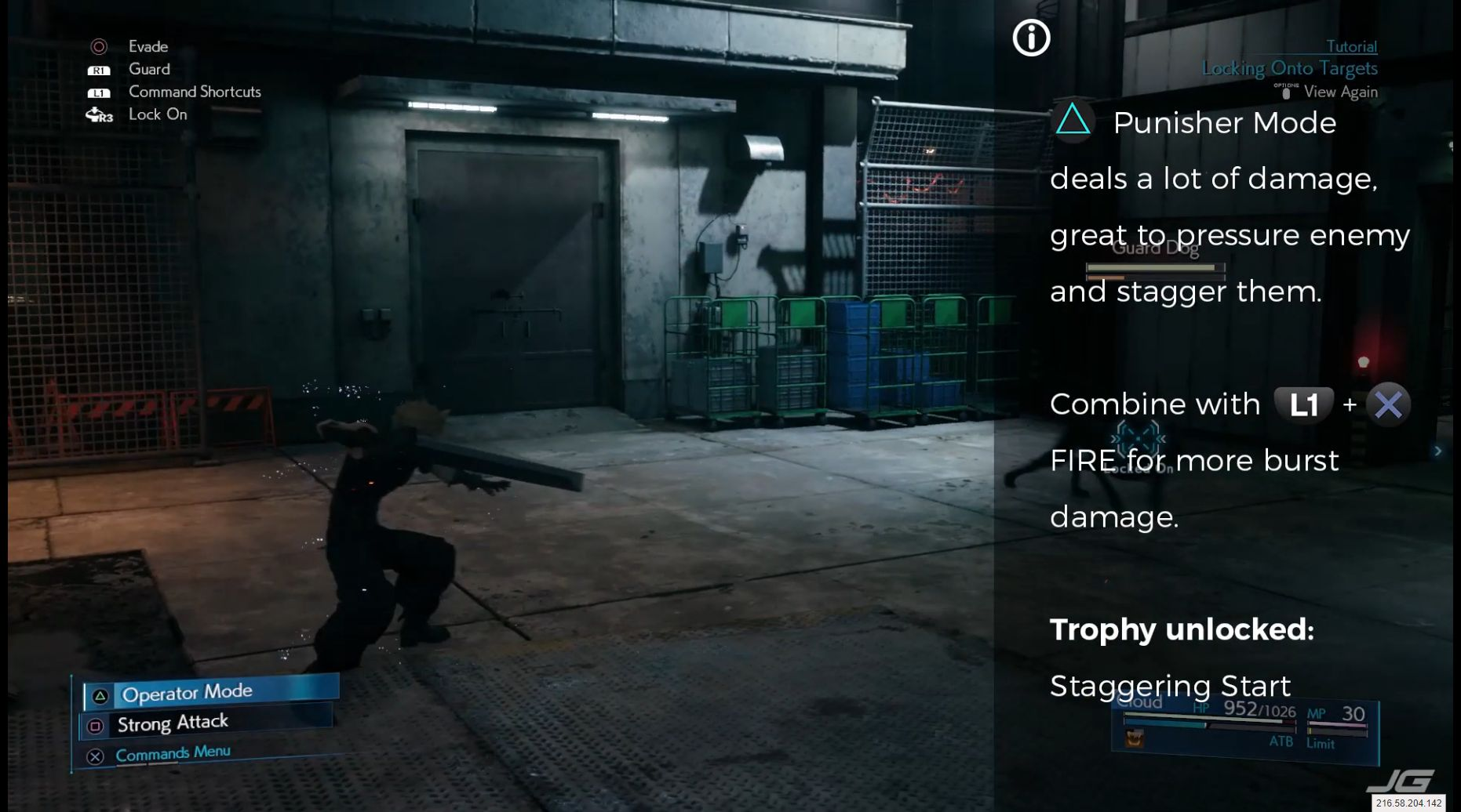 (Triangle) Punisher Mode deals a lot of damage, great to pressure enemy and stagger them Combine with (L1 + Cross) FIRE for more burst damage Trophy unlocked: Staggering Start