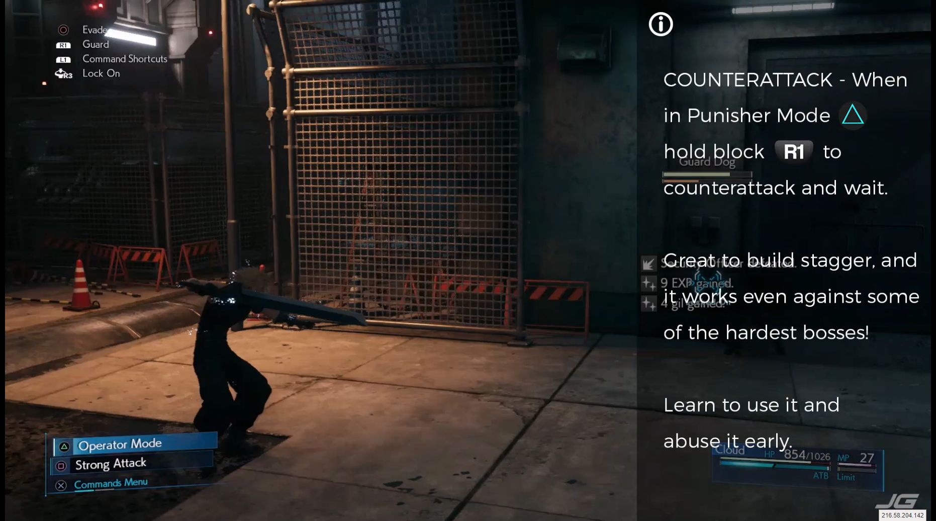 COUNTERATTACK - When in Punisher Mode (Triangle), hold block (R1) to counterattack and wait, Great to build stagger, and it works even against some of the hardest bosses! Learn to use it and abuse it early