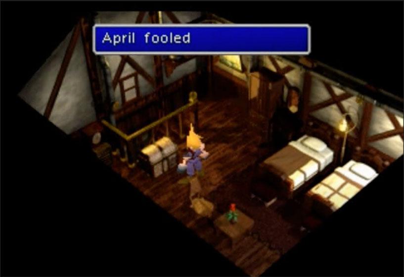 FF7 Kalm Treasure chest april fooled