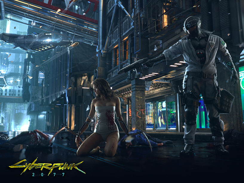 Melissa rory Cyberpunk 2077 being shot at